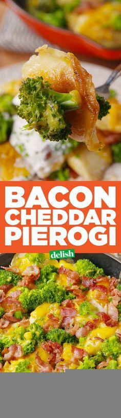 Bacon Cheddar Pierogi  - Delish.com
