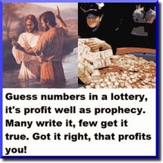 God is just while luck isn't such. Why he doesn't play dice is the difference between profit, prophecy and his prophets.