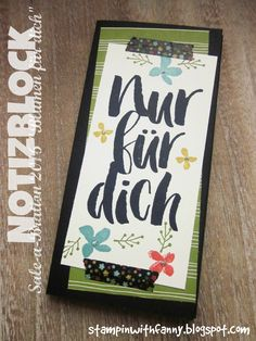 stampin up stampinwithfanny kellnerblock waitress pad notizblock blumen für dich wildblumenwiese #stampinwithfanny