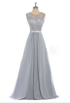 HHBY Women's Lace Tank Bridesmaid Dresses For Wedding Party Formal Gown Silver Size US 14 HHBY http://www.amazon.com/dp/B0169VGOR6/ref=cm_sw_r_pi_dp_-uwxwb01S7EP3