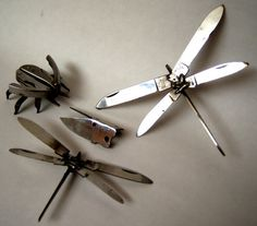 SCULPTURES MADE FROM CONFISCATED T.S.A. ITEMS
