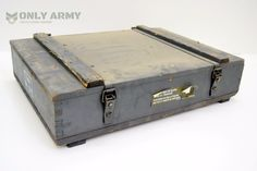 #Swiss army wooden storage box / tool box #ammunition ammo grenade #rocket mortar & NEW British Military 7.62 / 30Cal Tool Box Metal Ammo Box Army ...