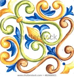 Find maiolica stock images in HD and millions of other royalty-free stock photos, illustrations and vectors in the Shutterstock collection. Indian Art Paintings, Easy Paintings, Tile Art, Tiles, Tile Painting, Medallion Quilt, Tangle Doodle, Vintage Tile, Art Decor