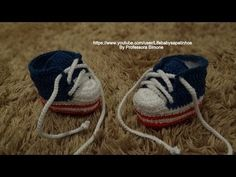 Sapatinho em Crochê George em Forma de Tênis Parte-1