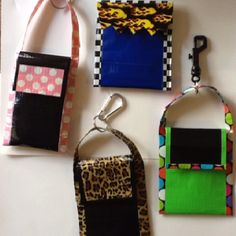 Some iPod duct tape cases from a kid's craft class that I teach.  These are fun and easy to make