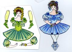 EKDuncan - My Fanciful Muse: The Fun of Paper Art Dolls - Examples from other Artists