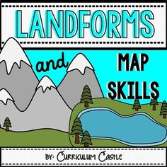 Landforms & Map Skills Unit by Curriculum Castle Teaching Geography, Teaching Science, Teaching Resources, Social Science, Teaching Ideas, Map Skills, Life Skills, Teachers Be Like, Map Projects