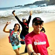 Dance on the sand.  ♡ Sore Beach , Pacitan.