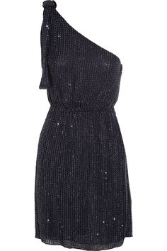 Asymmetric sequined dress by Alice + Olivia