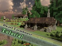 Minecraft Tutorial: How To Build Another Dwarf Style Farm House!
