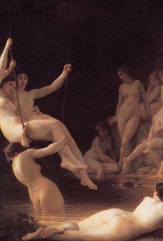 The nymphaeum (detail) William Bouguereau.