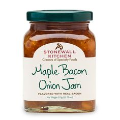 Shop Stonewall Kitchen Maple Bacon Onion Jam and more from Sur La Table! Bacon Marmalade, Marmalade Recipe, Roast Chicken Recipes, Pork Chop Recipes, Bacon Onion Jam, Apple Jam, Apple Cider, Stonewall Kitchen, Quick Appetizers