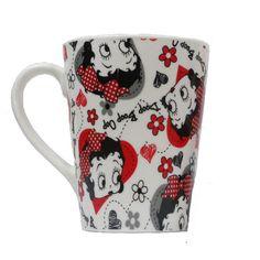 Betty Boop Mug Betty Boop Design: Ditsy Print