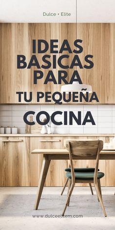 Ideas básicas para tu pequeña cocina.#cocinapequeña#cocinasbonitas#cocinasintegralesmodernas#cocinaspequeñasybonitas#diseñodeislasparacocina#cocinasabiertas#cocinaspequeñasconbarra#desayuandor#tendencias2020encocinas#cocinasintegrales