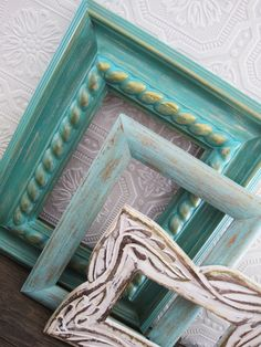 beach picture frame set of 3 distressed rustic chic wedding decor