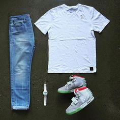 WEBSTA @ wdywt - 👍or👎: #WDYWTgrid by @four1fix#mensfashion #outfit #ootd👕: #OVO x #Jordan👖: #Lacoste👟: #Nike #Yeezy 2 'Platinum'#WDYWT for on-feet photos#WDYWTgrid for outfit lay down photos•