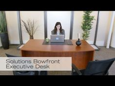 Executive Bowfront Desk | National Business Furniture