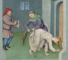 """Yuck Your Yum,"" from a medieval manuscript, 1500 Medieval Memes, Medieval Life, Medieval Art, Medieval Manuscript, Illuminated Manuscript, European History, Art History, Renaissance, Illustrations"