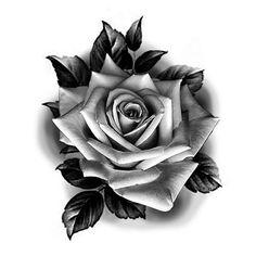Single Rose Tattoos, Rose Flower Tattoos, Rose Tattoos For Men, Rose Hand Tattoo, Tattoos For Guys, Chicanas Tattoo, Sun Tattoos, Body Art Tattoos, Dark Tattoo