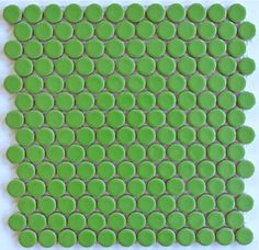 ModDotz lime green Key Lime porcelain penny round tile for bathroom tile, kitchen backsplash and flooring tile
