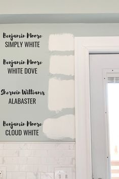 The Best White Paint Colors - Micheala Diane Designs - - Need to choose the perfect white paint color. I am sharing the best white paint colors for every home. Benjamin Moore and Sherwin Williams White Paint.