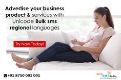 Advertise your business product & services with your regional languages. Unicode Bulk sms enables you to send SMS messages in the language of your choice. Know more details visit : http://www.bulksmsindia.biz/