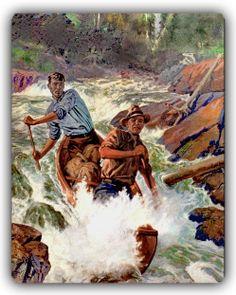 Running the rapids.