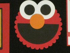 Elmo...make into magnets at party as a craft for the 5 and under group