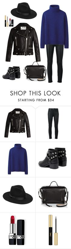 """""""Без названия #14"""" by misselena222 ❤ liked on Polyvore featuring Acne Studios, Yves Saint Laurent, Uniqlo, Senso, Lack of Color, DKNY and Christian Dior"""