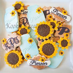 Kookie Jar Cake Designs : Sunflower bridal shower cake Sunflower bridal shower ...