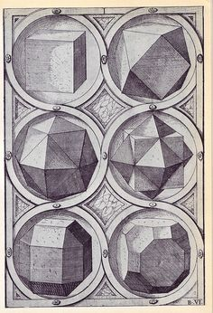 Terra - Perspectiva Corporum Regularium - Wenzel Jamnitzer 1568 by peacay / Sacred Geometry Geometry Art, Sacred Geometry, Solid Geometry, Platonic Solid, Math Art, Mystique, Sacred Art, Occult, Geometric Shapes