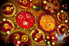 Diyas and trays and just prettiness