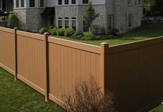 vinyl fencing... Lifetime warranty, just wash down to clean and comes in 7 different colours.. now just need to find in Canada!