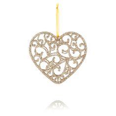 Plastic Heart Decoration   Baubles & Tree Decorations   ASDA direct