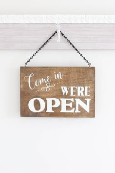Open Business Sign Open Closed Sign We're Open Sign Closed Signs, Open Signs, We Are Open Sign, Open Shop, Business Signs, Open For Business Sign, Salon Signs, Mobile Boutique, Shopping Quotes