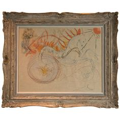 Salvador Dali  Lithograph | From a unique collection of antique and modern prints at http://www.1stdibs.com/furniture/wall-decorations/prints/