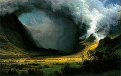 Albert Bierstadt Storm In The Mountains painting is shipped worldwide,including stretched canvas and framed art.This Albert Bierstadt Storm In The Mountains painting is available at custom size. Landscape Art, Landscape Paintings, Religiosidad Popular, Edward Moran, Albert Bierstadt Paintings, Thomas Moran, Kunsthistorisches Museum, Hudson River School, Art Ancien
