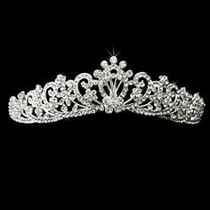 Alloy With Rhinestone And Pearl Fantastic Bridal Tiara – USD $ 11.79 (Light in the Box)