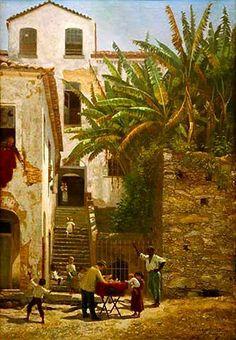 A hora do pão, 1889 Abigail de Andrade (Brasil, 1864-1891) óleo sobre tela, 70 x 50 cm Coleção Sérgio Sahione Fadel