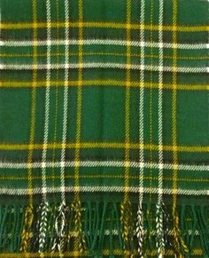 lambswool scarf in Irish National Tartan