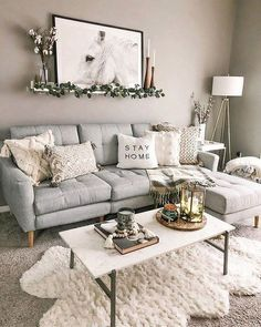 32 Gorgeous Winter Living Room Decor You Should Copy Now Boho Living Room Copy Decor Gorgeous Living Room winter Winter Living Room, Boho Living Room, Living Room Colors, Small Living Rooms, Small Living Room Designs, Small Livingroom Ideas, Bohemian Living, Living Room Ideas House, House Ideas
