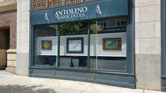 Excited to display Ruby Rose Studio art in the windows of Antolino & Associates in downtown Columbus! #art #business