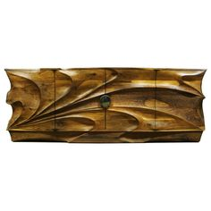 Cabinet/Console ~ Stunning design, awesome craftsmanship.   Tsunami Cabinet/Console by M. Wilson