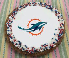 Miami Dolphins Giant Cookie Cake