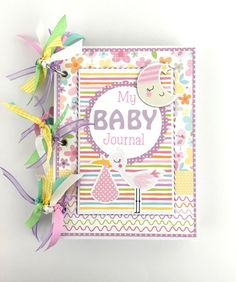 Baby Girl Scrapbook Journal Mini Album Kit or Premade album by ArtsyAlbums