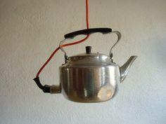 Upcycling  - Wasserkessel LAMPE  von MaDütt auf DaWanda.com