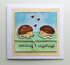 Card hedgehogs, Lawn Fawn Hedgehugs Sending Hedgehugs - JKE