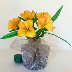 62 best small origami flower arrangements images on pinterest origami flower arrangements with vase mightylinksfo