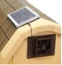 Solar Fan for LARGE Insulated Dog Houes - TUFF-N-RUGGED