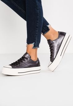 4cc6500ec9e2 CHUCK TAYLOR LIFT METALLIC - Trainers - black white   Zalando.co.uk 🛒